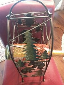Other - 7 Bottle Wine Holder - Woodsy/Outdoors Theme